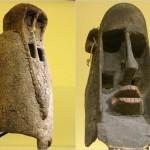 Deux masques Dogon - 45 et 43,2 cm
