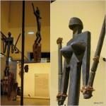 Deux masques satimbe (soeur des masques) - 138 et 128 cm