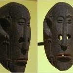 Masque de Saman (peuple du centre du plateau) - 31 cm