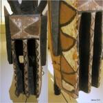 """Masque """"maison à étages """" sirige (détail) - 520 cm"""