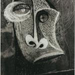 Brassaï, Gravure 3 - sans titre (Visage gravé sur un graffiti), 1934-1935, épreuve gélatino-argentique, tirage unique, feuille contact 1, 23,5 x 17,5 cm. Collection privée, Paris. © Estate Brassaï – RMN.