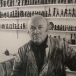 Joseph Herman with some of his miniatures